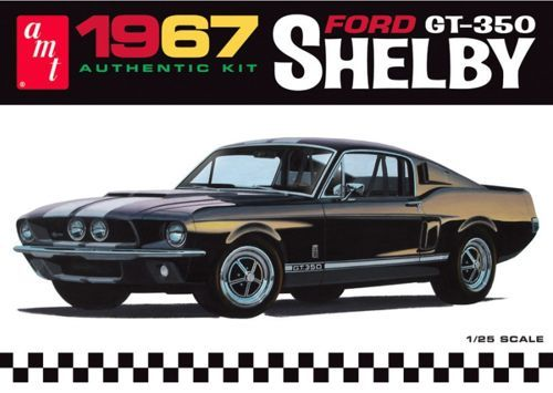 AMT 1967 Ford Mustang Shelby GT-350 molded in black plastic makett