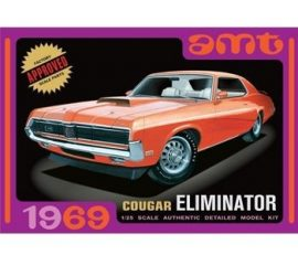 AMT 1969 Mercury Cougar Eliminator - moulded in White
