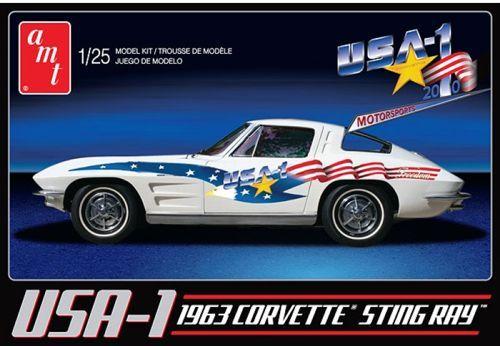 AMT 1963 Chevrolet Corvette - USA-1 makett