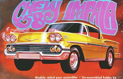 AMT 1958 Chevy Impala - Molded in Gold Plastic makett