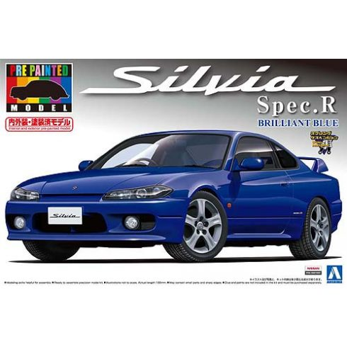 Aoshima Nissan S15 Silvia Spec.R (Brilliant Blue) makett