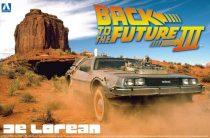 Aoshima DeLorean from Back to the Future III makett
