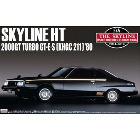 Aoshima Nissan Skyline Ht 2000Gt-E-S Turbo Khgc211 1980 makett