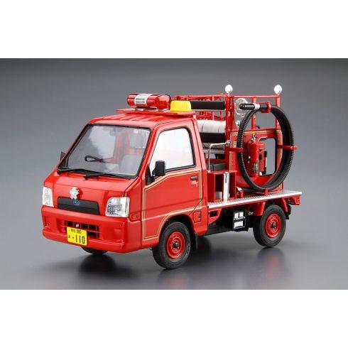 Aoshima Subaru Sambar Fire Engine makett