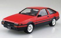 Aoshima TOYOTA AE86 TRUENO '83 (RED/BLACK) makett