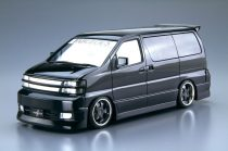 Aoshima NISSAN Fabulous APE50 Elgrand '00 makett