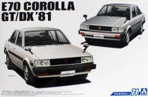 Aoshima 1981 Toyota Corolla E70 GT/DX makett