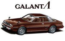 Aoshima 1978 Mitsubishi Galant A133A Lambda makett