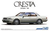 Aoshima Toyota JZX81 Cresta 2.5 Super Lucent G '90 makett