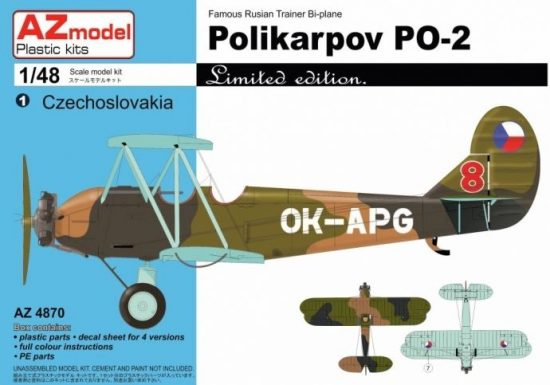 AZ Model POLIKARPOV PO-2 CZ/DDR/YU makett