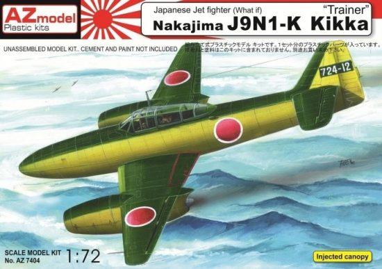 AZ Model Nakajima J9N1-K Kikka makett