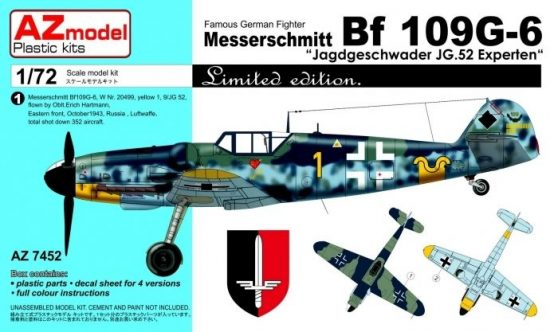 """AZ Model Messerschmitt Bf109G-6 """"JG 52 Experten"""""""