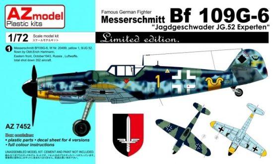 """AZ Model Messerschmitt Bf109G-6 """"JG 52 Experten"""" makett"""