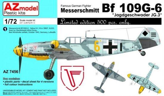 AZ Model Messerschmitt Bf 109G-6 Jagdgeschwader JG.3 makett
