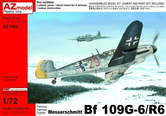 AZ Model Messerschmitt Bf 109G-6/R6 makett