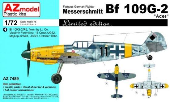 """AZ Model Messerschmitt Bf 109G-2 """"Aces"""" makett"""