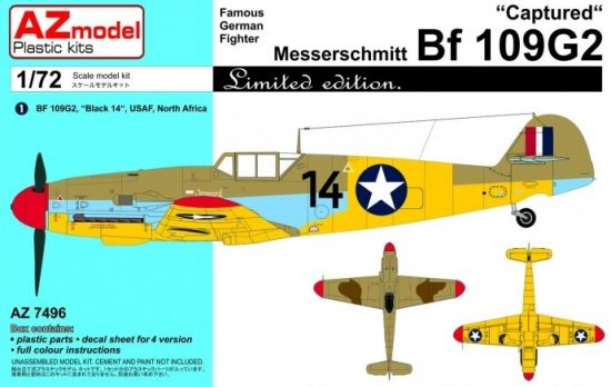 """AZ Model Messerschmitt Bf 109Ga-2 """"Captured"""" makett"""