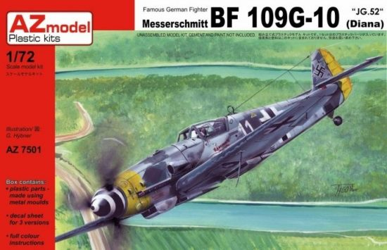 AZ Model Messerschmitt Bf-109G-10 (Diana) makett