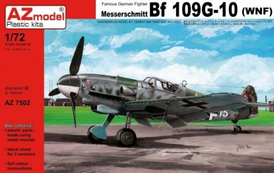 AZ Model Messerschmitt BF109G-10 WNF makett