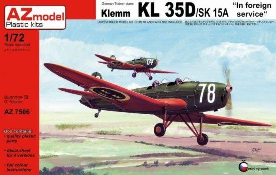 AZ Model Klemm KL 35D/SK 15 makett