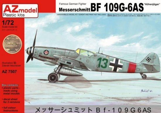 "AZ Model Bf-109G-6AS ""Höhenjäger"" makett"