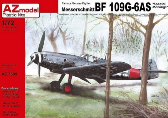"""AZ Model Messerschmitt Bf-109G-6AS """"Special markings"""" makett"""