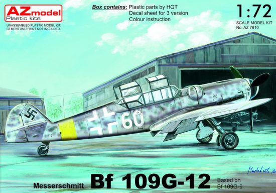 AZ Model Messerschmitt Bf-109G-12 Two-seater makett