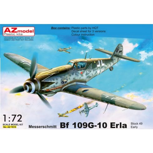 "AZ Model Messerschmitt Bf-109G-10 Erla ""Block 49 Early"" makett"