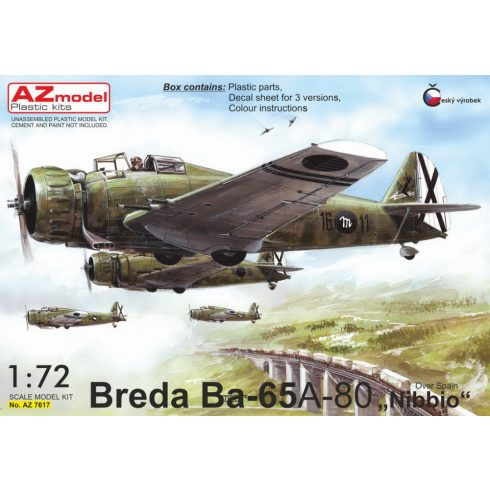 "AZ Model Breda Ba.65A-80 ""Over Spain"" makett"