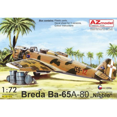 "AZ Model Breda Ba.65A-80 ""In Italian service"" makett"