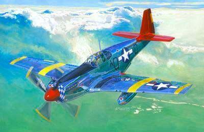 Mistercraft P-51 B-7 Mustangs over Italy makett