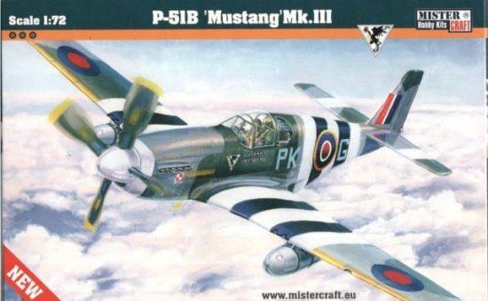 Mistercraft P-51B Mustang MK.III makett