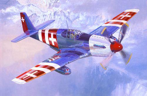 Mistercraft P-51 B Swiss Air Force makett