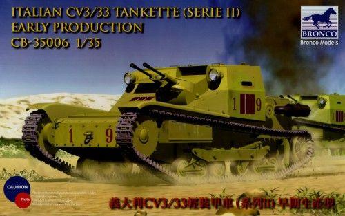 Bronco Italian CV3/33 Tankette makett