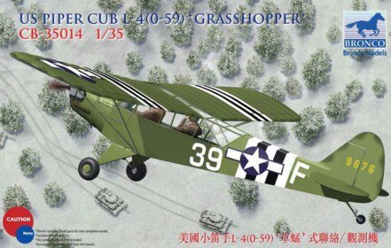 Bronco Piper L-4H Cub 'Grasshopper' makett