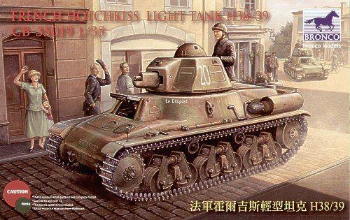 Bronco French Hotchkiss H-38/39 Light Tank makett
