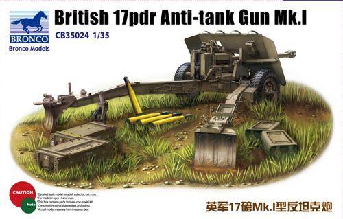 Bronco British 17pdr Anti-tank gun Mk.I makett