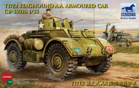 Bronco T17E2 Staghound AA Armoured Car makett