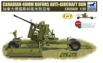 Bronco Canadian 40mm Bofors Anti-Aircraft Gun makett