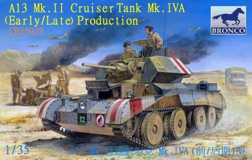 Bronco A13 Mk.II Cruiser Tank Mk.IVA (Early/Late) makett