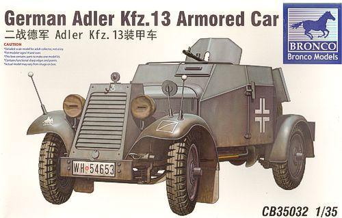 Bronco German Adler Kfz.13 Armoured Car makett