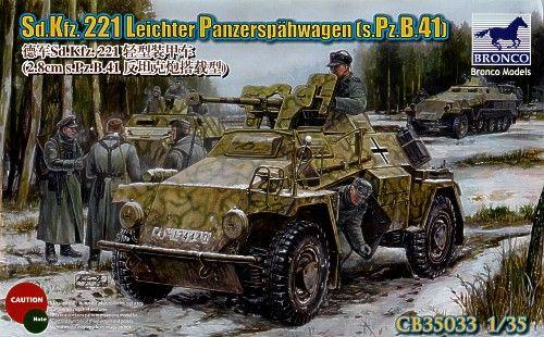Bronco Sd.Kfz.221 Leichter Panzerspahwagen (s.Pz.B.41) makett