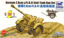Bronco German 2.8cm Pz.B41 Anti Tank Gun makett