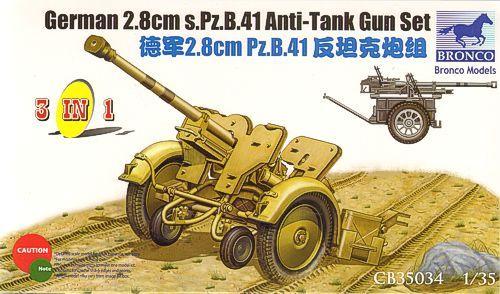 Bronco German 2.8cm Pz.B41 Anti Tank Gun
