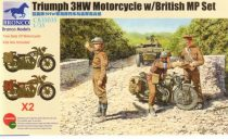 Bronco Triumph 3HW Motorcycle with MP Figure Se makett
