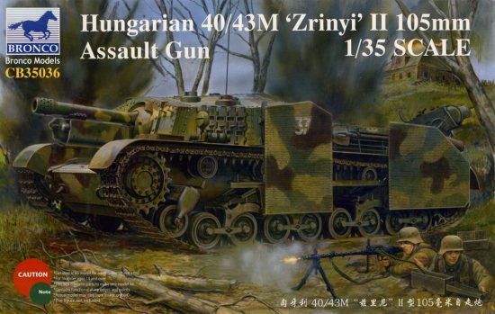 Bronco Hungarian 40/43M Zrinyi II 105mm Assault Gun makett