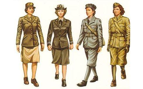 Bronco WWII Allied Female Figure Set