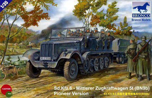 Bronco Sd.Kfz.6 - Mittlerer Zugkraftwagen 5t (BN9b) makett