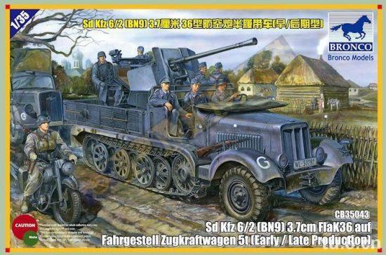 Bronco Sd.Kfz.6/2 5t 3.7cm Flak36 half-track (BN9) Early/Late