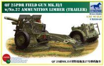 Bronco QF 25pdr Field Gun Mk.II/I makett